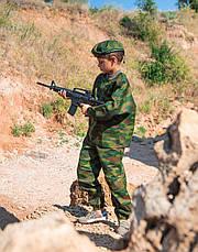 Детский камуфляж игровой костюм для мальчиков БОЕЦ цвет Флора, фото 2