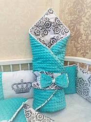 Плед-одеяло-коверт с плюшем