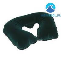 Надувная флокированная подушка Bestway 67006, зеленая 37 х 24 х 10 см