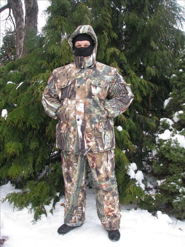 Зимовий рибальський костюм маскувальний костюм