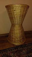 Плетена корзина из лозы для багетов