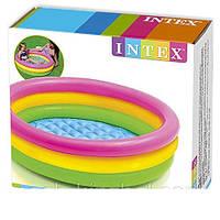 Басейн дитячий барвистий надувний INTEX (86Х25 СМ.), фото 1