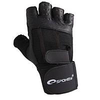 Мужские перчатки для фитнеса Spokey TORO M Черный (s0300)