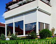 Ролеты защитные автоматические на окна и двери ширина 2000 высота 2000