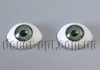 Глазки куклы зеленые 14х10 мм 2 шт.