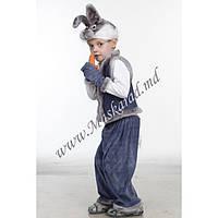 """Карнавальный костюм детский """"Зайчик серый"""" (11017-2). Универсальный размер 3-6 лет. Велюр. Быстрая доставка."""