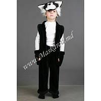 """Детский карнавальный костюм """"Котёнок чёрный"""" (11068-2). Универсальный размер 3-6 лет. Велюр. Быстрая доставка."""