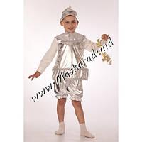 """Детский карнавальный костюм """"Колокольчик-бубенчик серебряный"""" (23132-2)"""