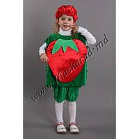 """Детский карнавальный костюм """"Клубничка"""" (33619). Универсальный размер 3-6 лет. Велюр. Быстрая доставка."""