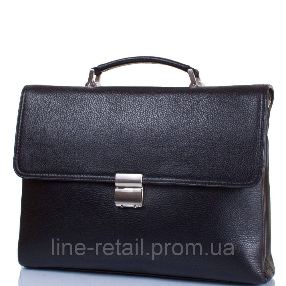 0d07f1eb700e Кожаный мужской портфель с карманом для ноутбука с диагональю экрана до 12,6