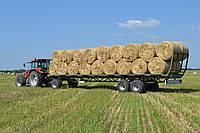 Прицеп платформа для перевозки тюков соломы и сена ПП-12/3 Украина