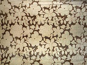 Плед из бамбукового волокна Wellsoft Цветы коричневые (200х220)
