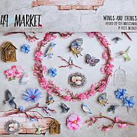 Декор обємний пластиковий - Wings & Things - 49 and Market - 30x30