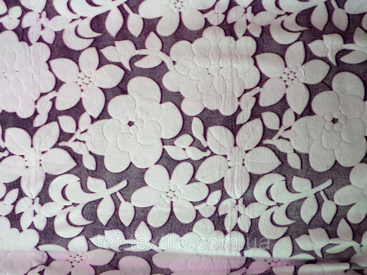 Плед из бамбукового волокна Wellsoft Цветы сливовые (200х220)
