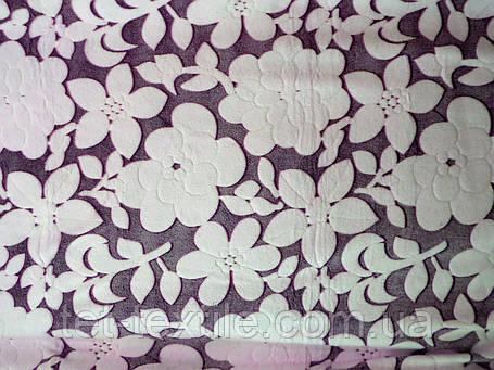 Плед из бамбукового волокна Wellsoft Цветы сливовые (200х220), фото 2