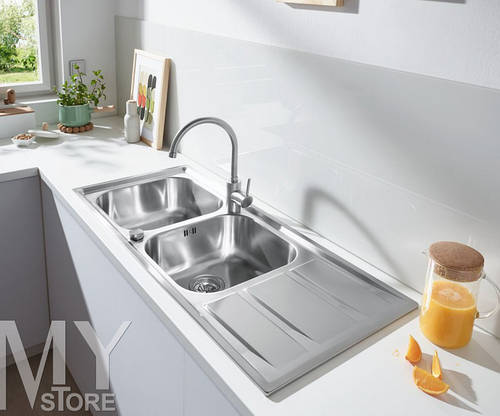 Мойка GROHE Sink K400 1160x500 31587SD0 сатин