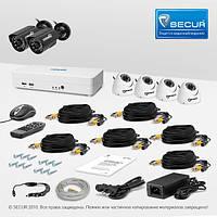 Комплект видеонаблюдения «установи сам» Страж Смарт-8 6М+ (УЛ-700Ш-2.КУ-700К-ИК-4)