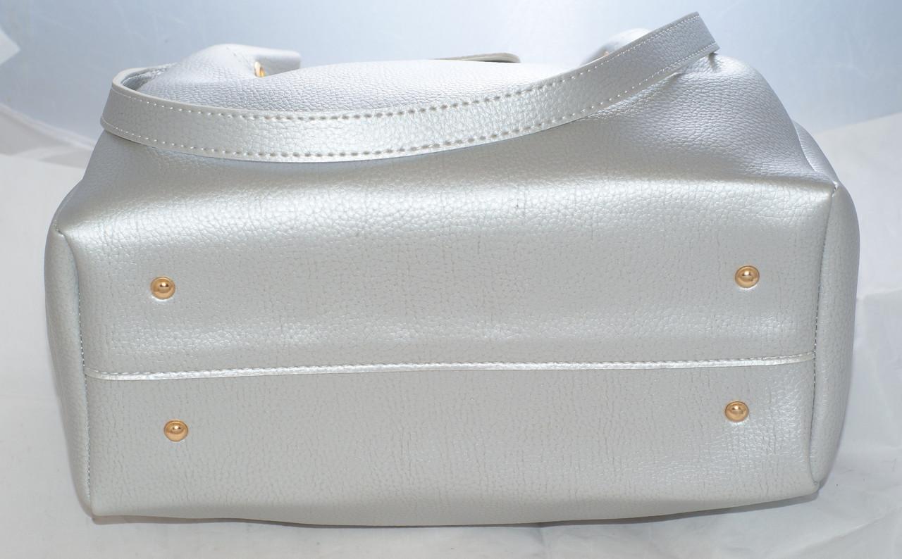 d4e83aad6507 Женская сумка Gucci (Гуччи), серебристая с косметичкой: продажа ...