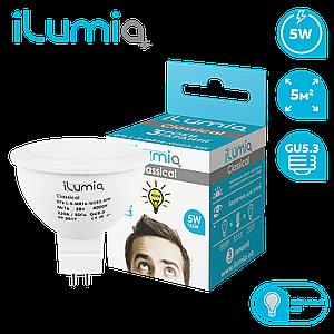 Светодиодная лампа Ilumia 5Вт, цоколь GU5.3, 4000К (нейтральный белый), 500Лм (076)