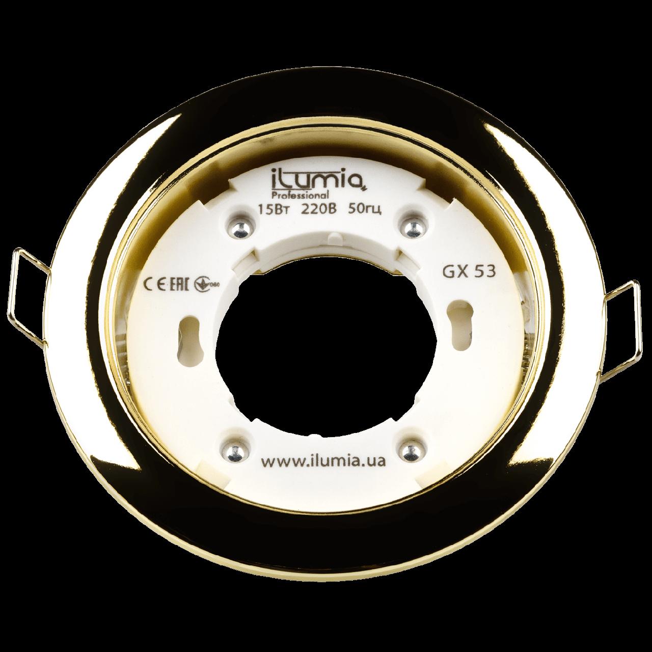 Встраиваемый светильник Ilumia под лампу GX53, Золотой, 105мм (049)