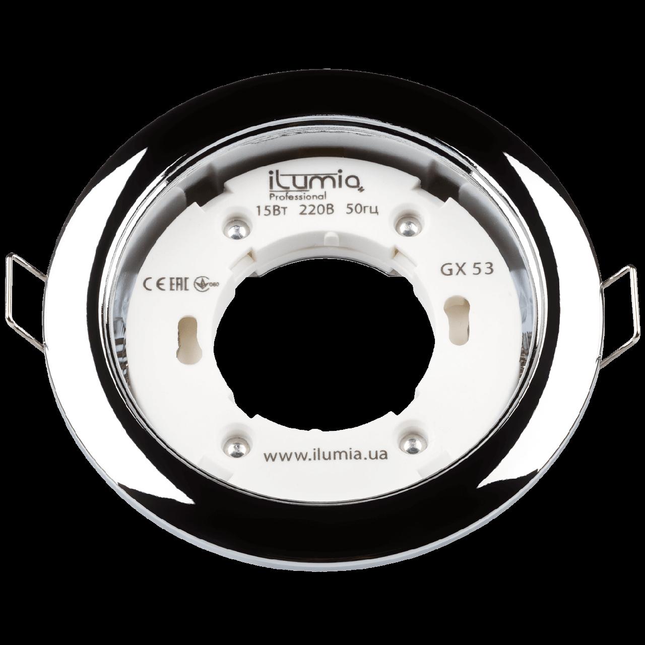 Встраиваемый светильник Ilumia под лампу GX53, Хром, 105мм (051)