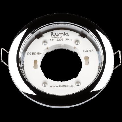 Встраиваемый светильник Ilumia под лампу GX53, Хром, 105мм (051), фото 2