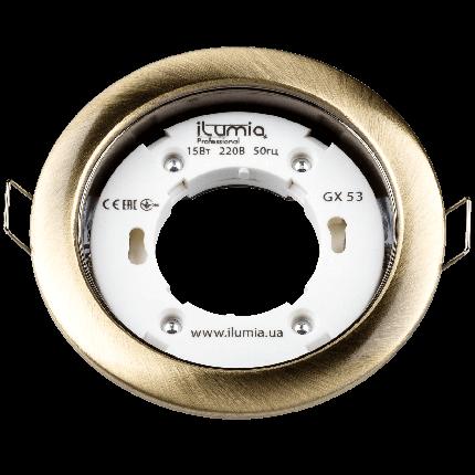 Встраиваемый светильник Ilumia под лампу GX53, Состаренная латунь, 105мм (052), фото 2
