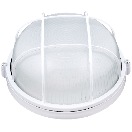 Корпус влагозащищенного светильника с решеткой Ilumia под лампу с цоколем GX53, корпус из алюминия и стекла, аналог НПП/НПБ/НББ/НБП (047), фото 2
