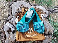 Женские валяные тапочки р.37 Обувь ручной работы из шерсти Подарок на новый год