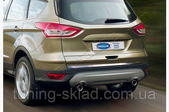 Хром  кромка багажника Ford Kuga 2013-2016+  (Форд Куга)
