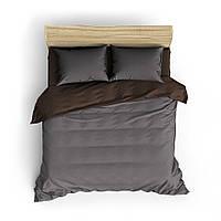 Однотонное коричнево-серое постельное белье MDreams Евро 200х220, фото 1