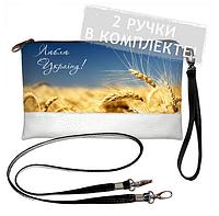 Клатч mini Україна 015 Принт Поля України, фото 1