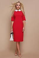 Женское красное платье для работы Ундина 3/4 В НАЛИЧИИ ТОЛЬКО S
