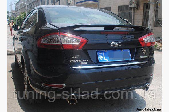 Хром кромка багажника  Ford Mondeo 2008-2013  (Форд Мондео)