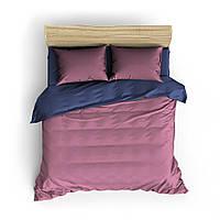 Однотонное фиолетово-розовое постельное белье MDreams 1.5-спальный 150*220