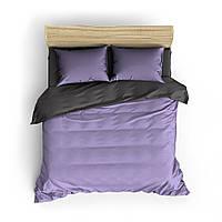 Однотонное фиолетово-серое постельное белье MDreams 1.5-спальный 150*220