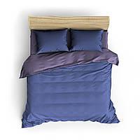 Однотонное фиолетово-синее постельное белье MDreams 1.5-спальный 150*220