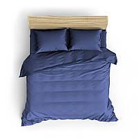 Однотонное синее постельное белье MDreams 1.5-спальный 150*220, фото 1