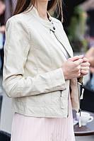 Женская стильная куртка из эко-кожи с прямой молнией (3 цвета), фото 1