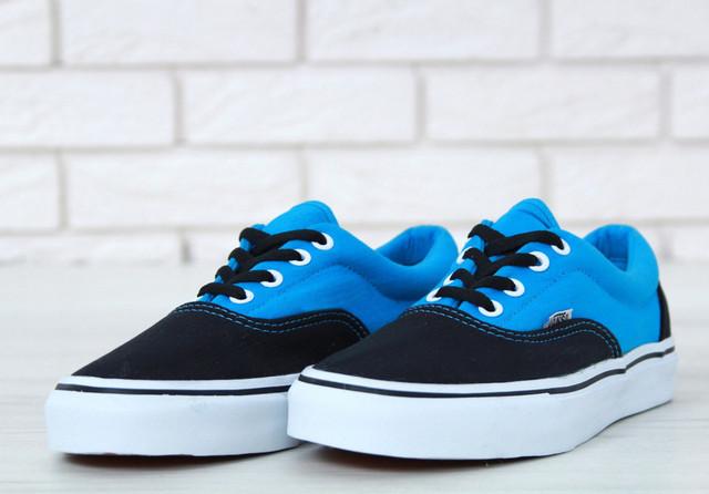 Vans женские черные с голубым
