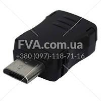 Штекер miсro USB (Samsung) под шнур, пластик,