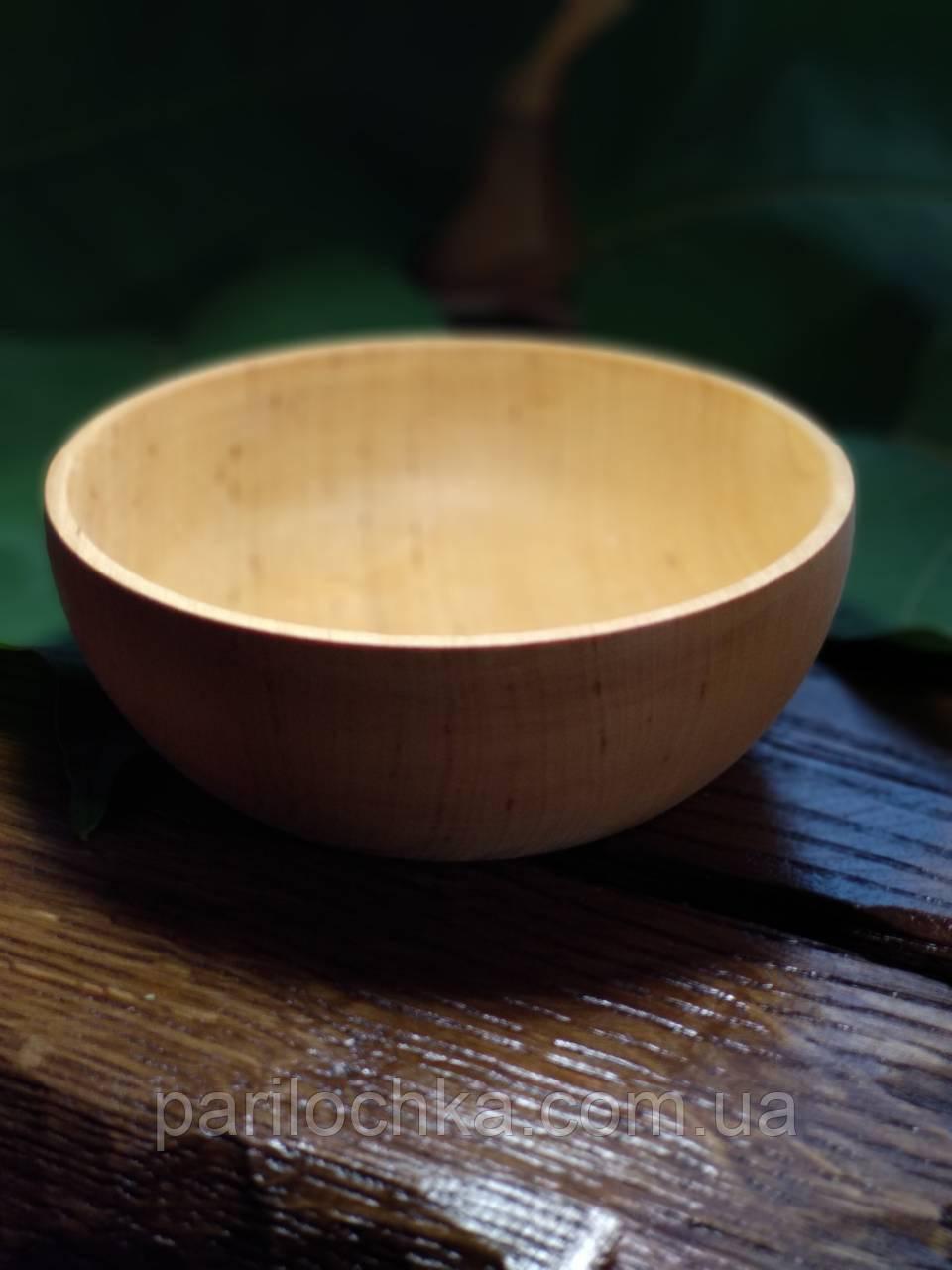 Деревянная тарелка из массива березы
