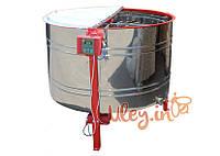 16-ти рамочная «ЕВРО» Медогонка, с поворотом кассет, нержавеющая (ротор Н/Ж, с крышкой) под рамку «ДАДАН» РЕМ, фото 1
