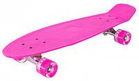 Скейт Profi Action Penny Board MS 0848-2 Dark Pink (20181116V-518)