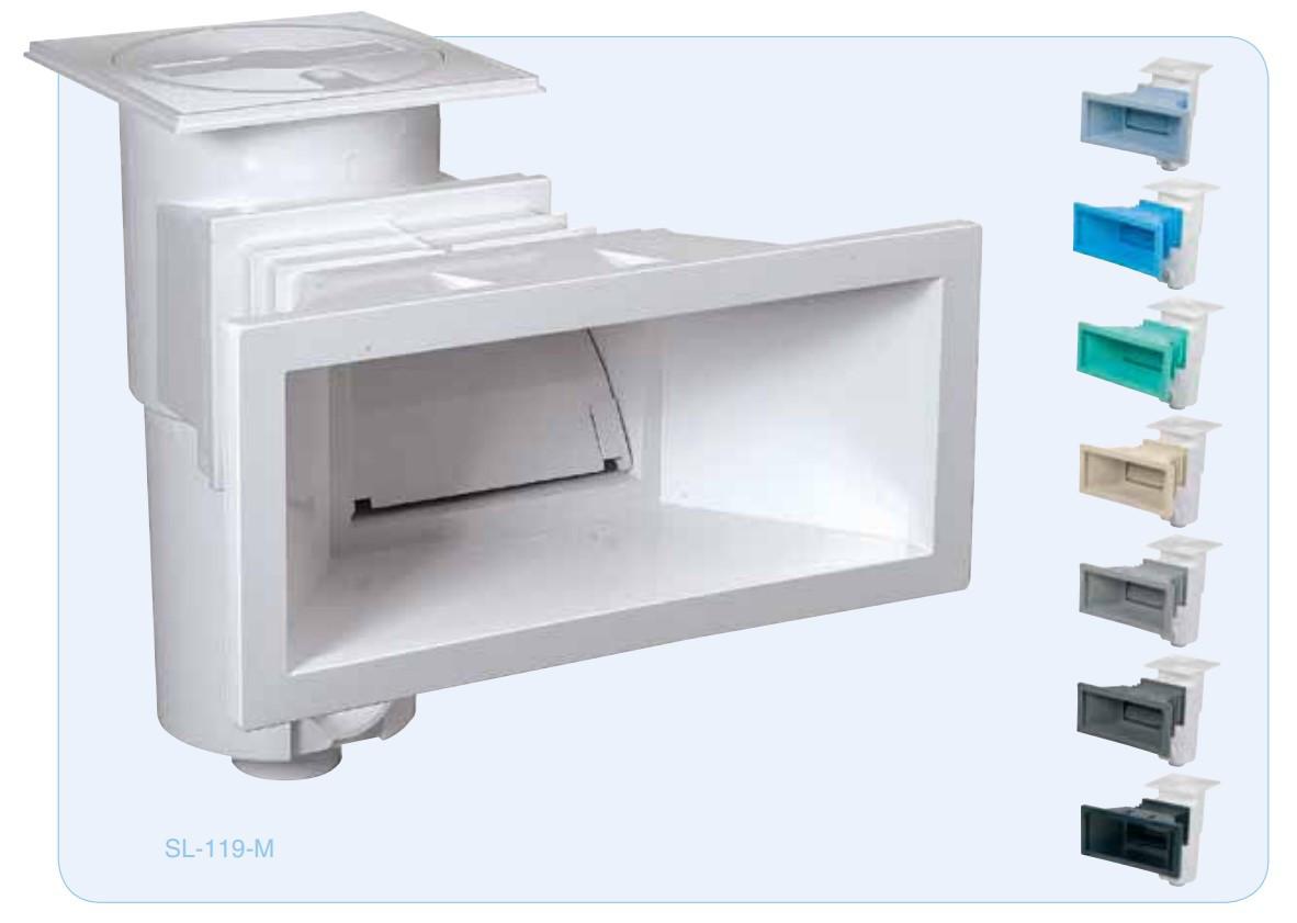 Скиммер Procopi SL-119-M-BC голубой для плёночных/бетон бассейнов