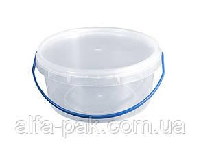 Пластиковые ведра с крышкой 0,5 л.