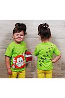 Футболка детская с рисунком 1402 А, Рост: 80,86, размер: 52