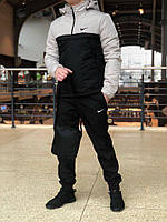 Утеплённый черно-белый мужской анорак Nike Intruder (куртка, ветровка) ОПТ и розница, фото 1