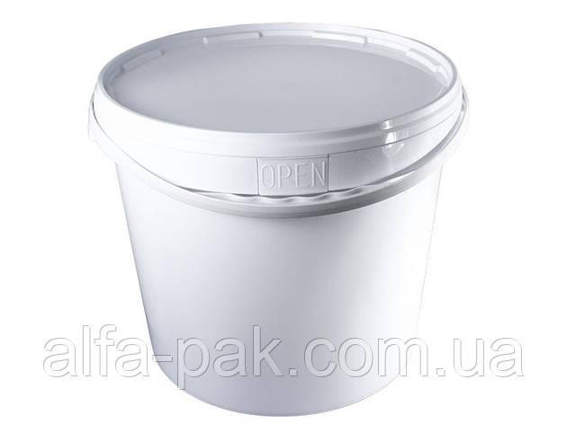 Пластиковое ведро 20 литров с крышкой, фото 2
