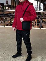 Утеплённый красный мужской анорак Nike Intruder (куртка, ветровка) ОПТ и розница, фото 1